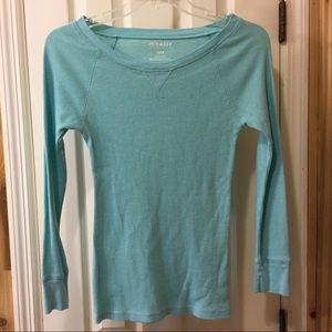 Bright Blue Old Navy Thermal Top